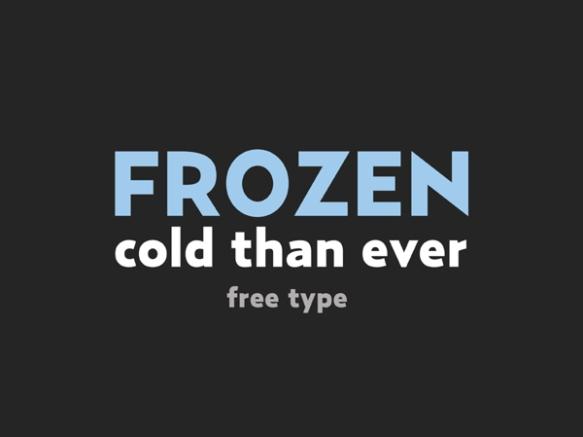 Frozen free font