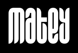 Matey free font