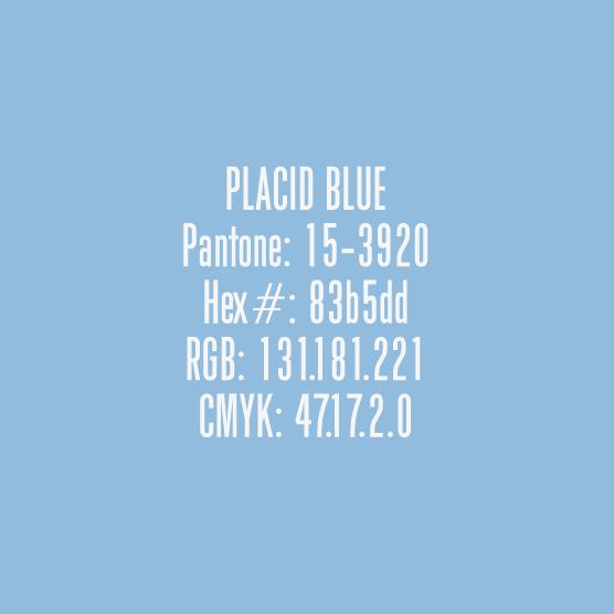 Placid blue